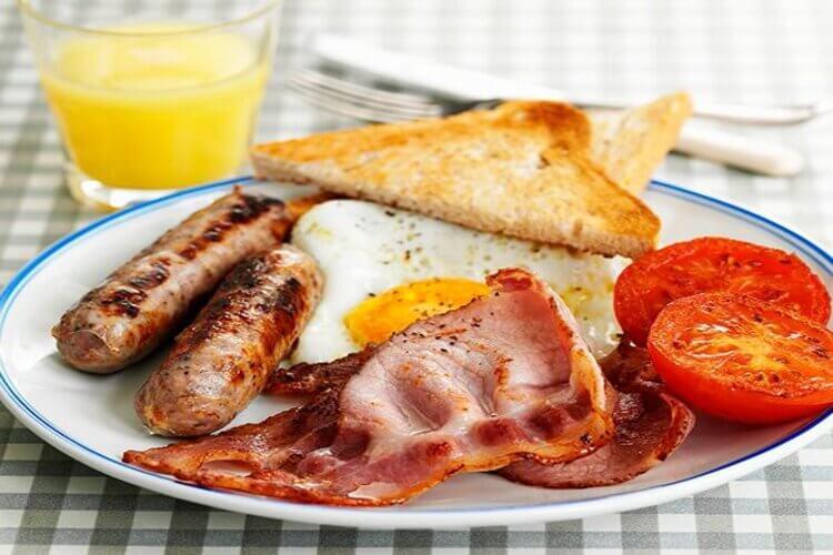 petit-déjeuner salé sain